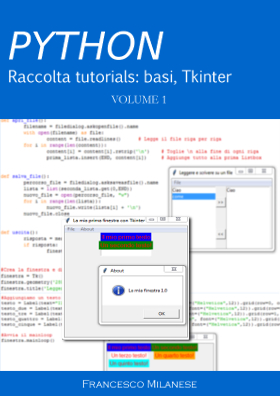 Python tutorials di Francesco Milanese - Basi e Tkinter - PDF e Video